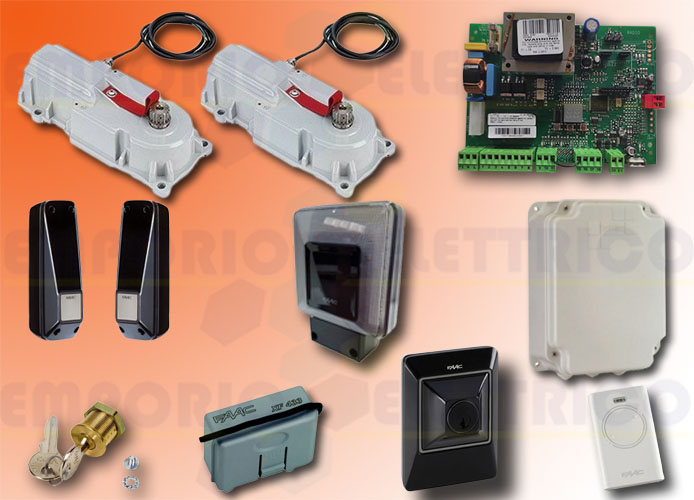 faac automation kit 230v ac power kit green 106746445