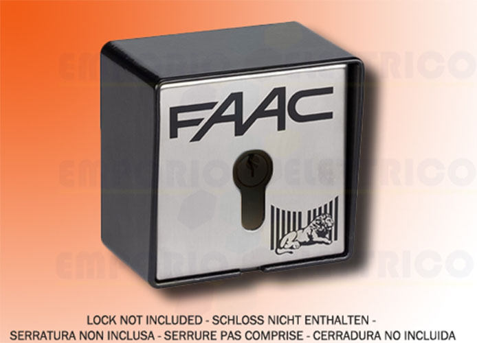 faac outdoor key button 2 contacts + electrobrake t21 ef 401016