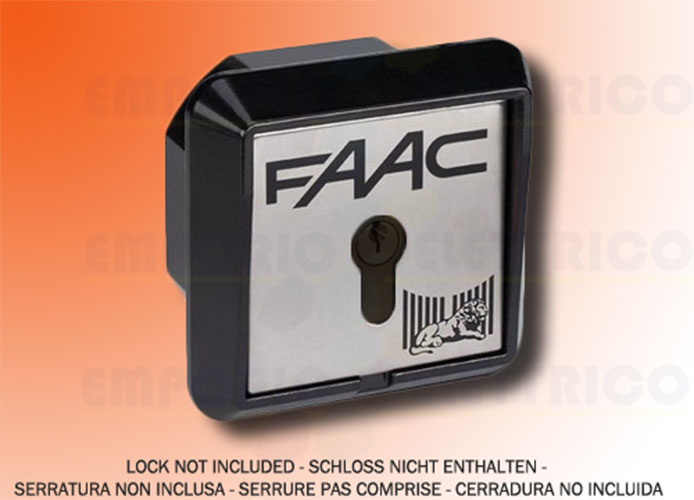 faac recess-mounting key button 2 contacts + electrobrake t21 if 401017