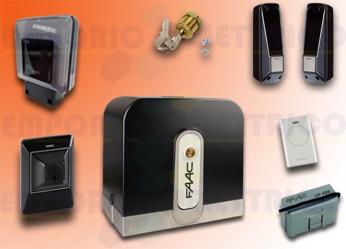 faac automation kit rapid (ex cyclo) 24v dc 800 kg safe&green 105083fr