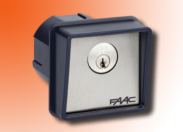 faac recessed key button 1 contact t10 4010101